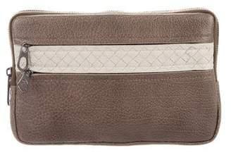 Bottega Veneta Intrecciato-Trimmed Leather Pouch