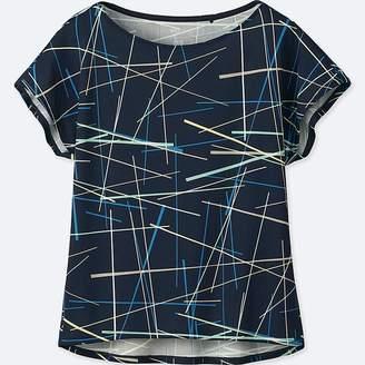 Uniqlo Women's Sprz Ny Dry-ex Printed Short-sleeve T-Shirt (niko Luoma)