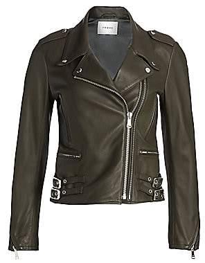 Frame Women's Multi-Buckle Leather Moto Jacket