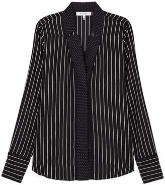 Frame Black Striped Silk Shirt
