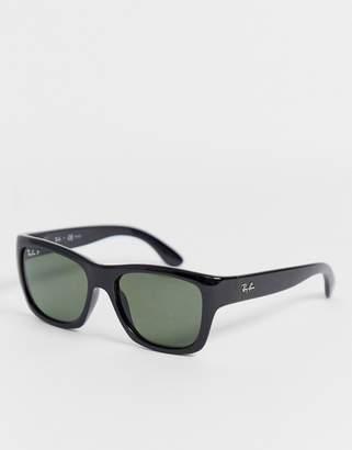 Ray-Ban chunky wayfarer sunglasses in black