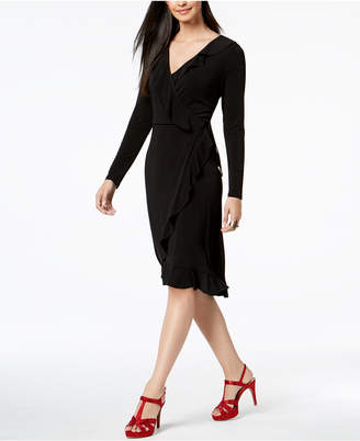 Thalia Sodi Ruffled Wrap Dress, Created for Macy's