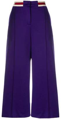 Gucci branded waistband wide-leg trousers