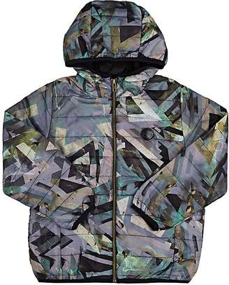 Someday Soon Geometric-Print Channel-Quilted Jacket $124 thestylecure.com