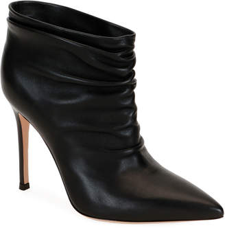 Gianvito Rossi Pointed Slouchy Leather Booties