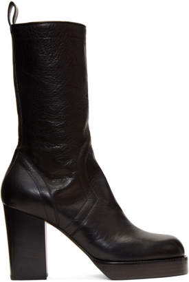 Rick Owens Black Chunky Creeper Boots
