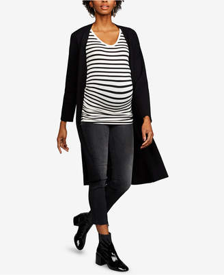 Cupcakes And Cashmere Heavy Knit Belted Duster Maternity Coat