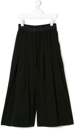 DKNY back print pleated trousers