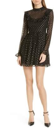 Robert Rodriguez Camille Fil Coupe Silk Blend Chiffon Dress