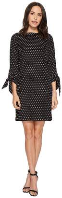 Tahari ASL Diamond Print Georgette Shift Women's Dress