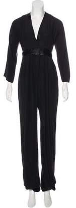 Jasmine Di Milo Silk Long Sleeve Jumpsuit