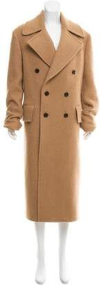 Versace Double-Breasted Camel Coat