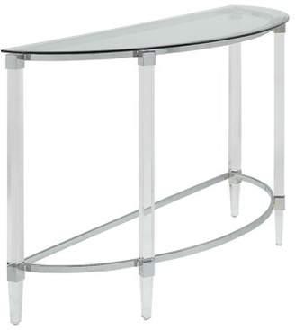 ACME Furniture Acme Reva Sofa Table in Clear Acrylic, Chrome & Clear Glass