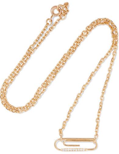 Aurelie BidermannAurélie Bidermann - 18-karat Gold Diamond Necklace - one size