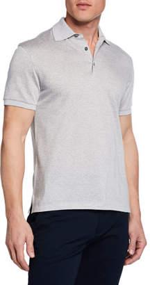 Ermenegildo Zegna Men's Twill Polo Shirt