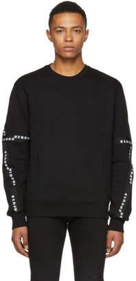 Versus Black Logo Tape Sweatshirt