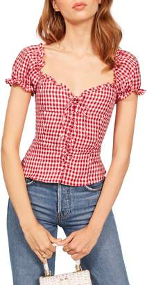 Reformation Cassidy Corset Top