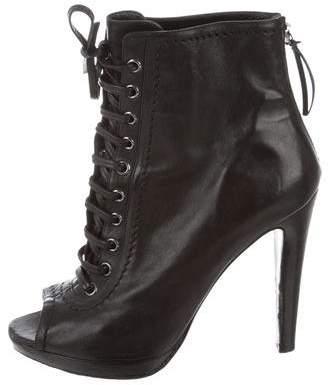 Miu Miu Peep-Toe Ankle Boots
