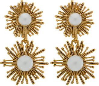 Oscar de la Renta Pearl Sun Star C Earring