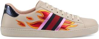 Ace sneaker with flames $695 thestylecure.com