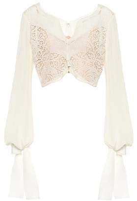 Stella McCartney Embroidered silk top