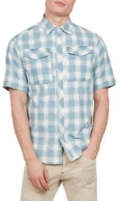 G Star Bristum Straight-Fit Utility Button-Down Shirt