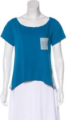 Elizabeth and James Scoop Neck Short Sleeve Top