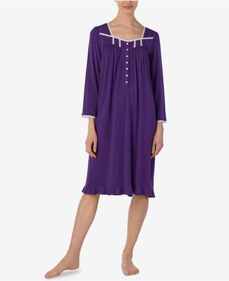 Eileen West Lace-Trim Waltz Nightgown