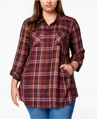 Style&Co. Style & Co Plus Size Plaid Tunic