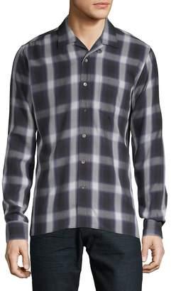 J. Lindeberg Men's Plaid Button-Down Shirt