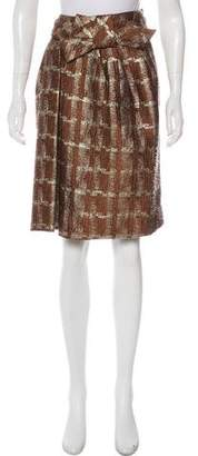 Marni Wool Metallic Skirt
