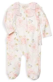 Baby Girl's Floral Footie