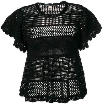 4c766e4ca541d8 ALEXACHUNG Alexa Chung open knit blouse