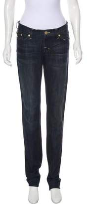 Rock & Republic Low-Rise Straight-Leg Jeans