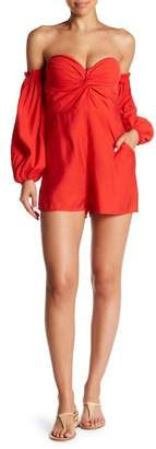 Love + Harmony Off-the-Shoulder Long Sleeve Romper