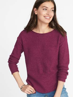 Old Navy Lightweight Marled Bateau Sweater for Women