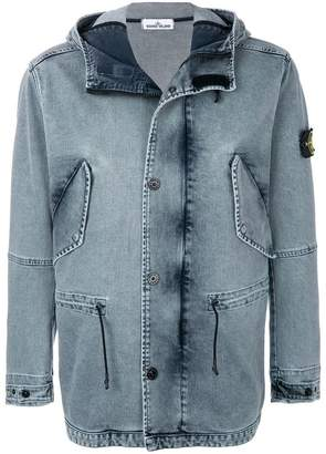 Stone Island Micro Reps short hooded parka jacket