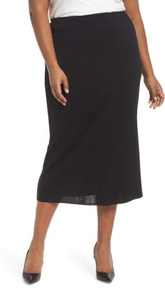 Ming Wang Knit Midi Skirt
