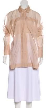 Stella McCartney Sheer Oversize Tunic