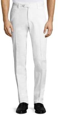 Isaia Solid Cotton Pants