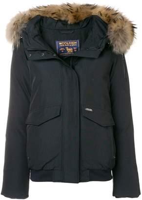 Woolrich fur hooded jacket