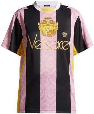 Versace Striped football shirt