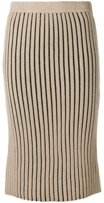 Victoria Beckham Victoria stripe knitted pencil skirt