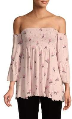 Free People Lana Ruffled Off-The-Shoulder Tunic