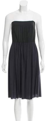 Calvin Klein Collection Wool Pleated Dress