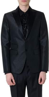 DSQUARED2 Laminated Black Fabric Blazer