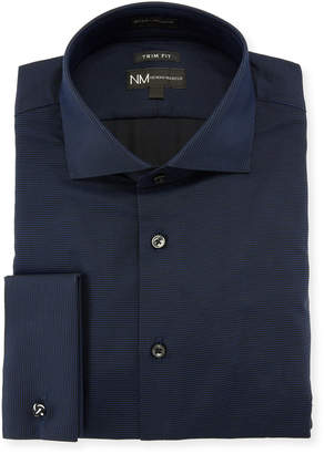 Neiman Marcus Trim Fit Striped Dress Shirt