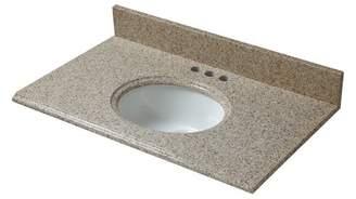 "HalsteadInternational Granite 37"" Single Bathroom Vanity Top"