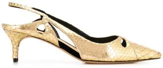 Alexandre Birman snakeskin effect pumps