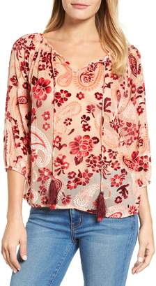 Kas Carlene Velvet Burnout Top